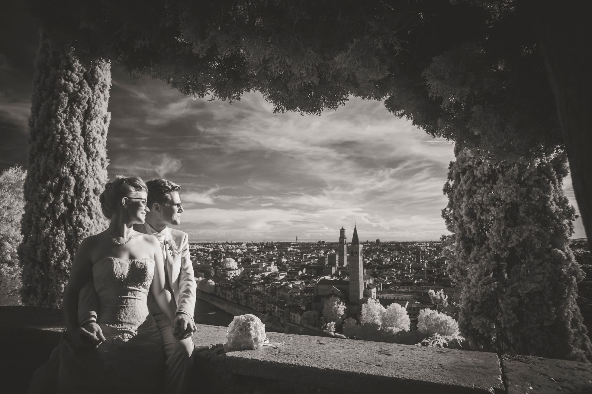 Fotografo matrimonio verona infrarosso