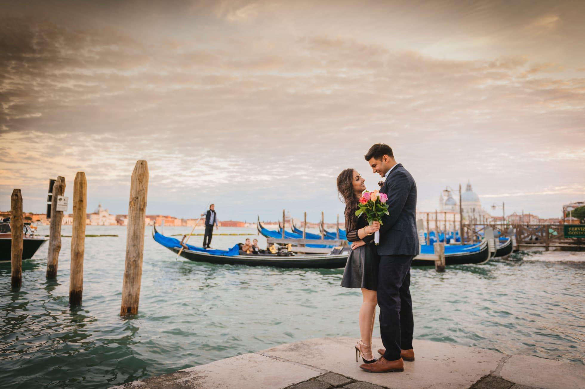 Fotografo matrimonio gondole
