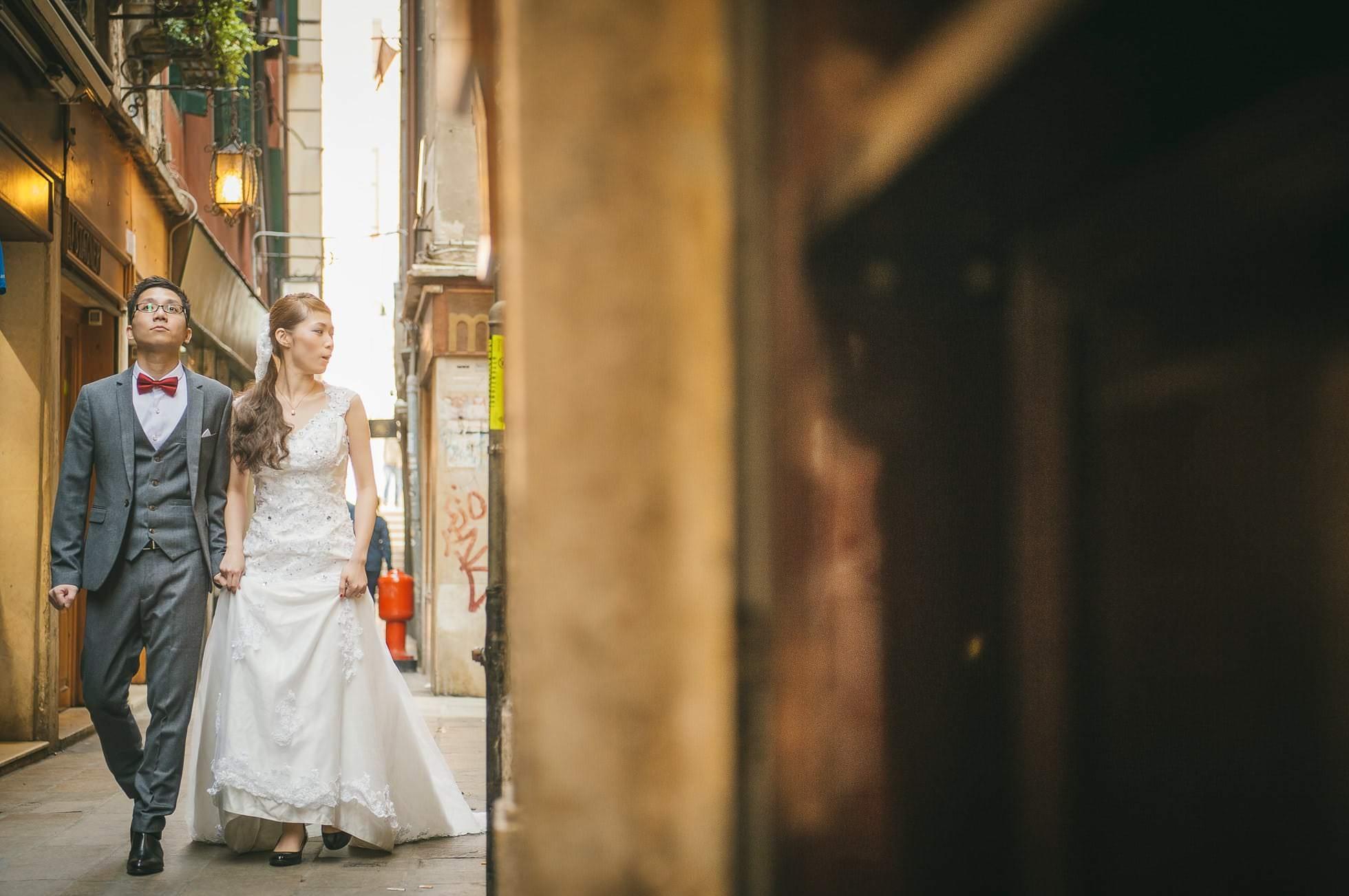 Fotografo matrimonio passeggiata venezia