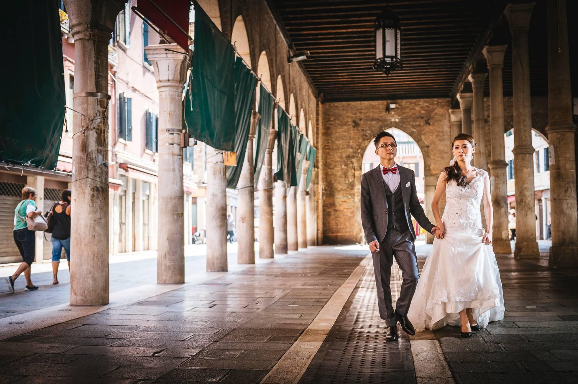 Fotografo matrimonio mercato pesce venezia