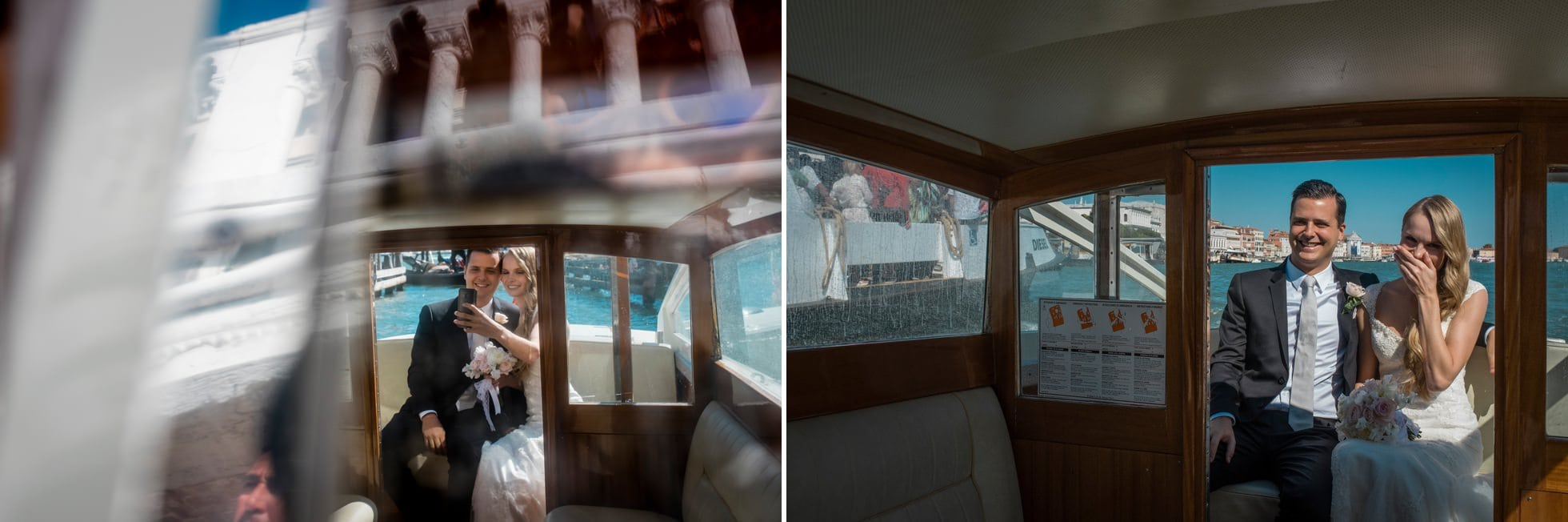 wedding photographer taxi boat
