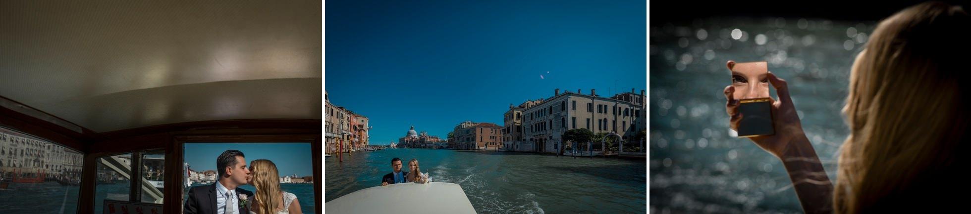 fotografo matrimonio taxi boat