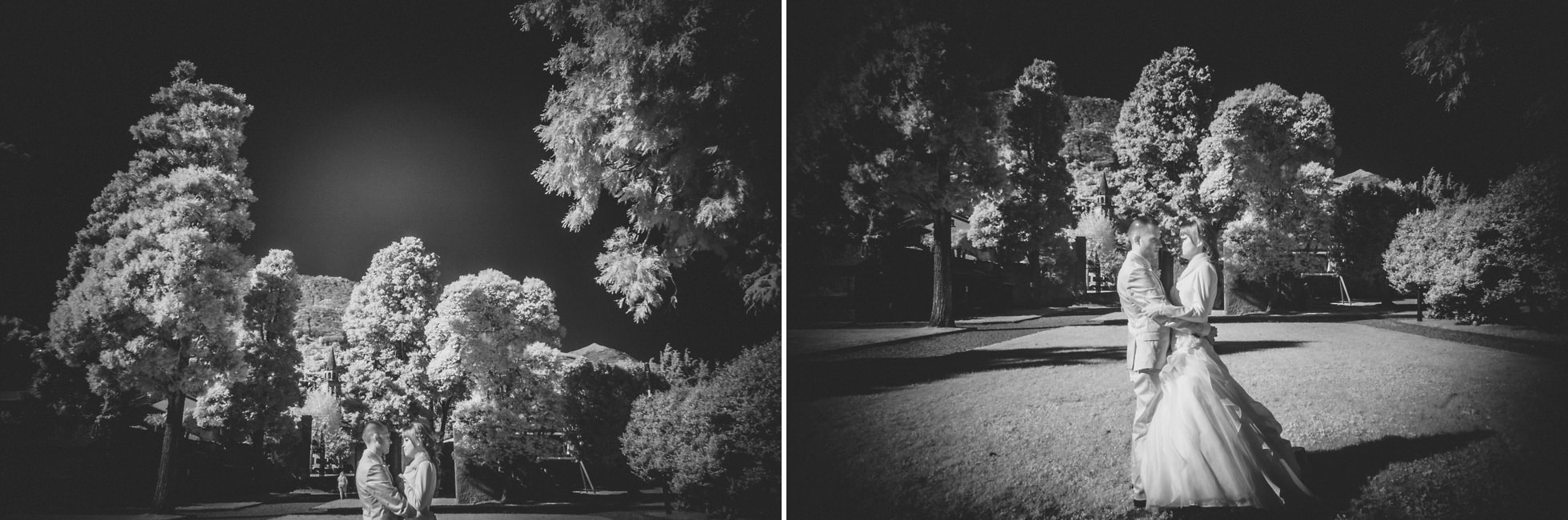Fotografo matrimonio gravedona infrarosso